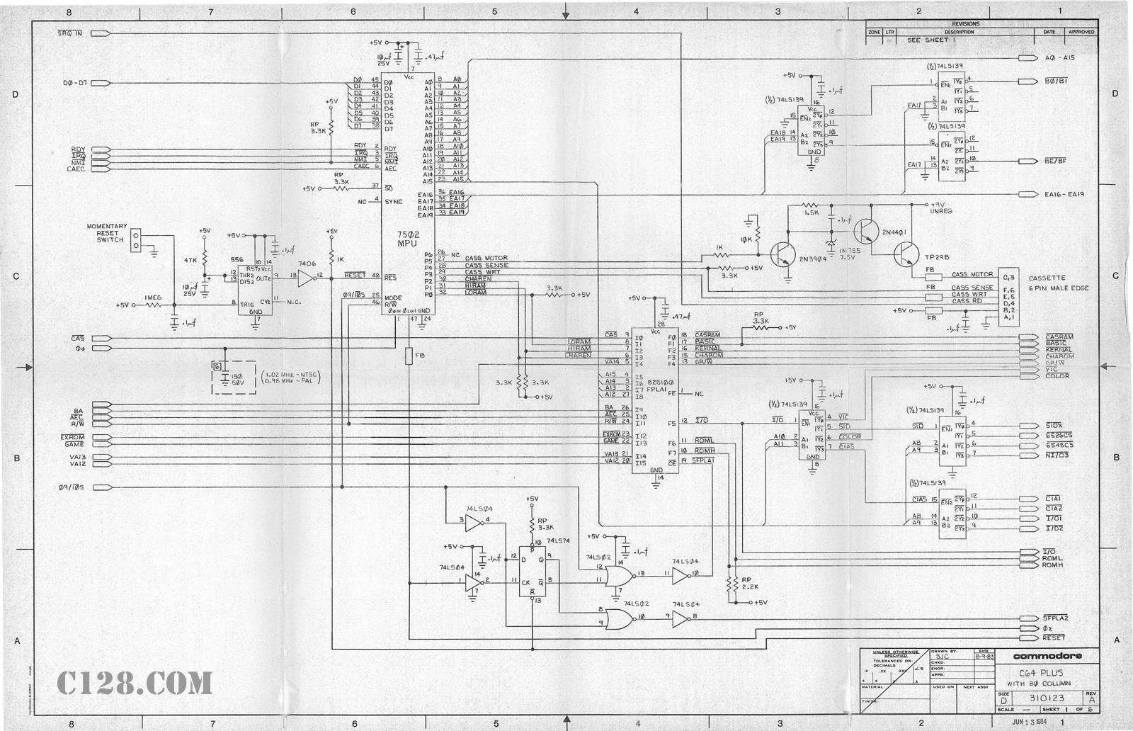 Schematics for C64 Plus with 80 Columns | C128.com
