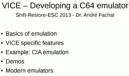 VICE-Developing a C64 Emulator | C128 com